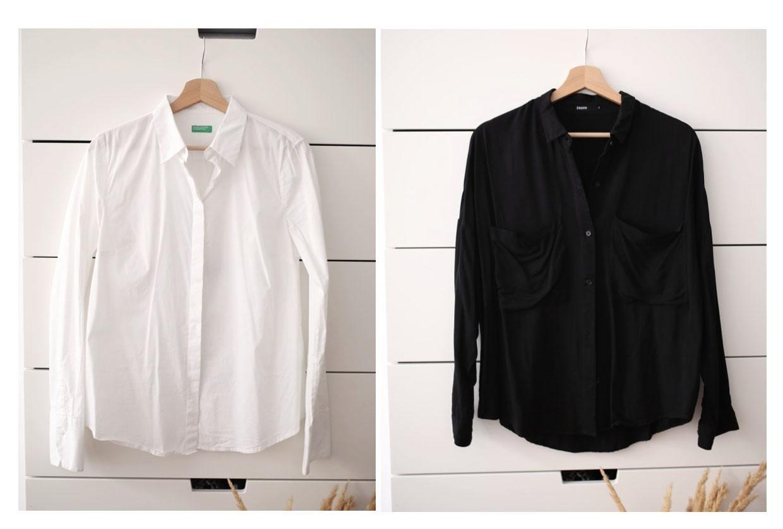 koszule biale i czarne